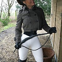 Two slaves are roped in Lady Annabelle's stables