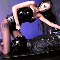 Chastised Leather Gimp